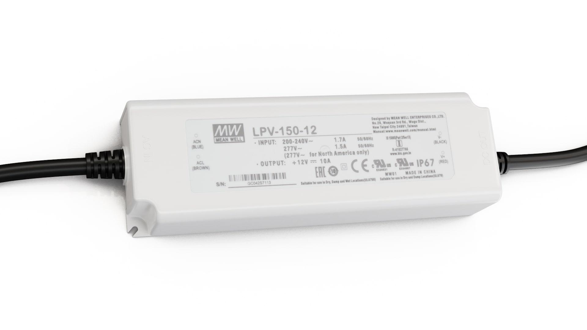 Zasilacz MEAN WELL LPV 12V 120W IP67
