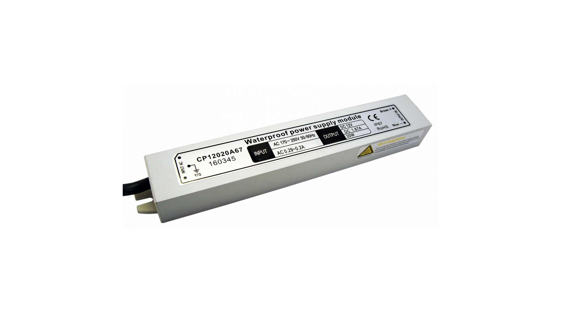Moduł zasilacza metal case 12V 20W IP67