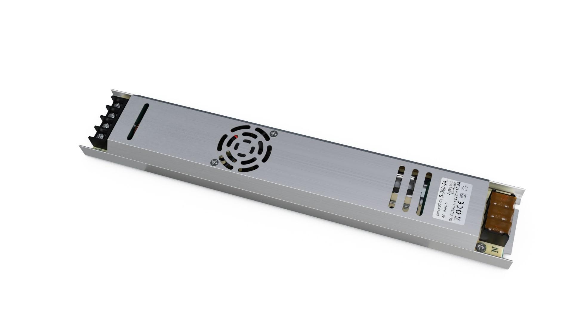 Moduł zasilacza montażowy 24V 300W IP20 slim