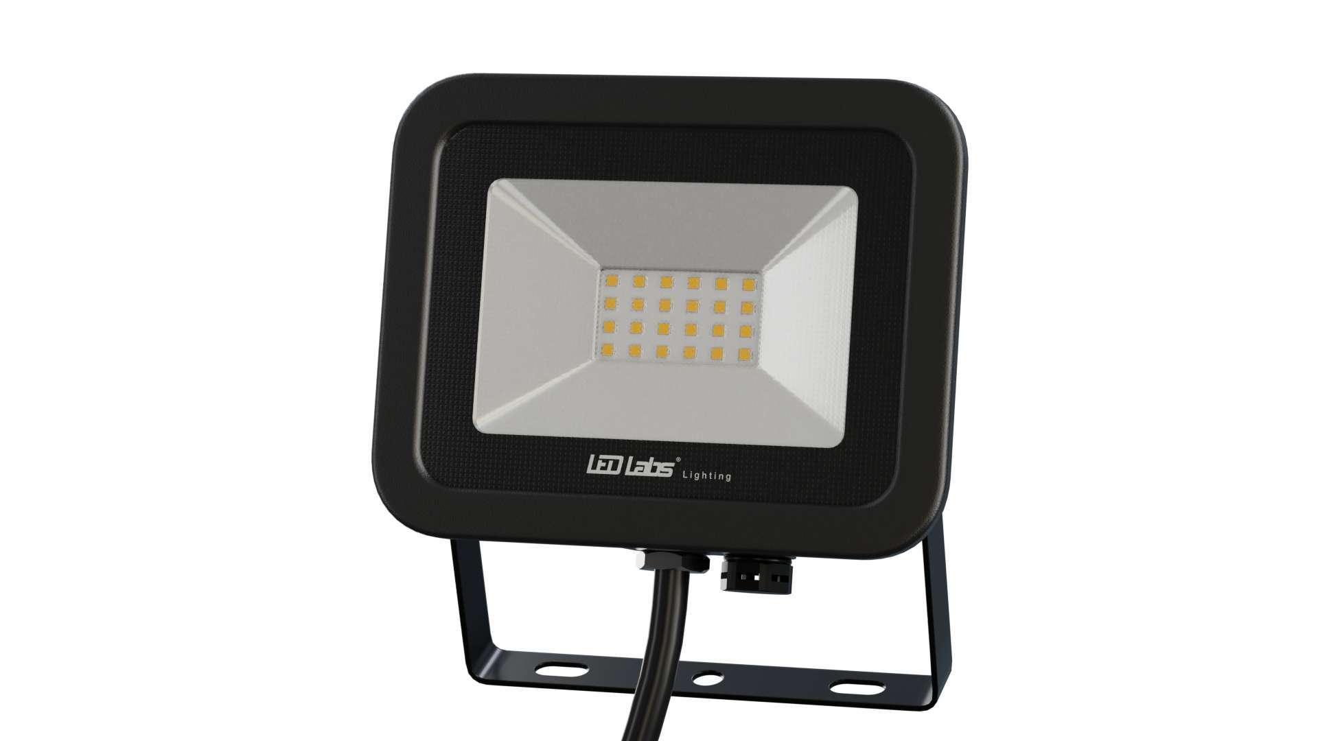 Naświetlacz LED 3Y 20W NW SMD IP65 SLIM, czarny