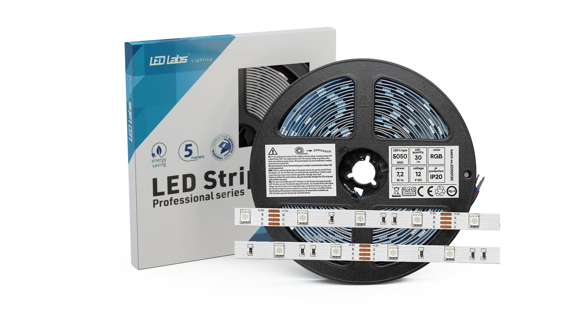 Taśma PRO 3Y 12V 150 LED 5050 SMD 7.2W RGB IP65HS