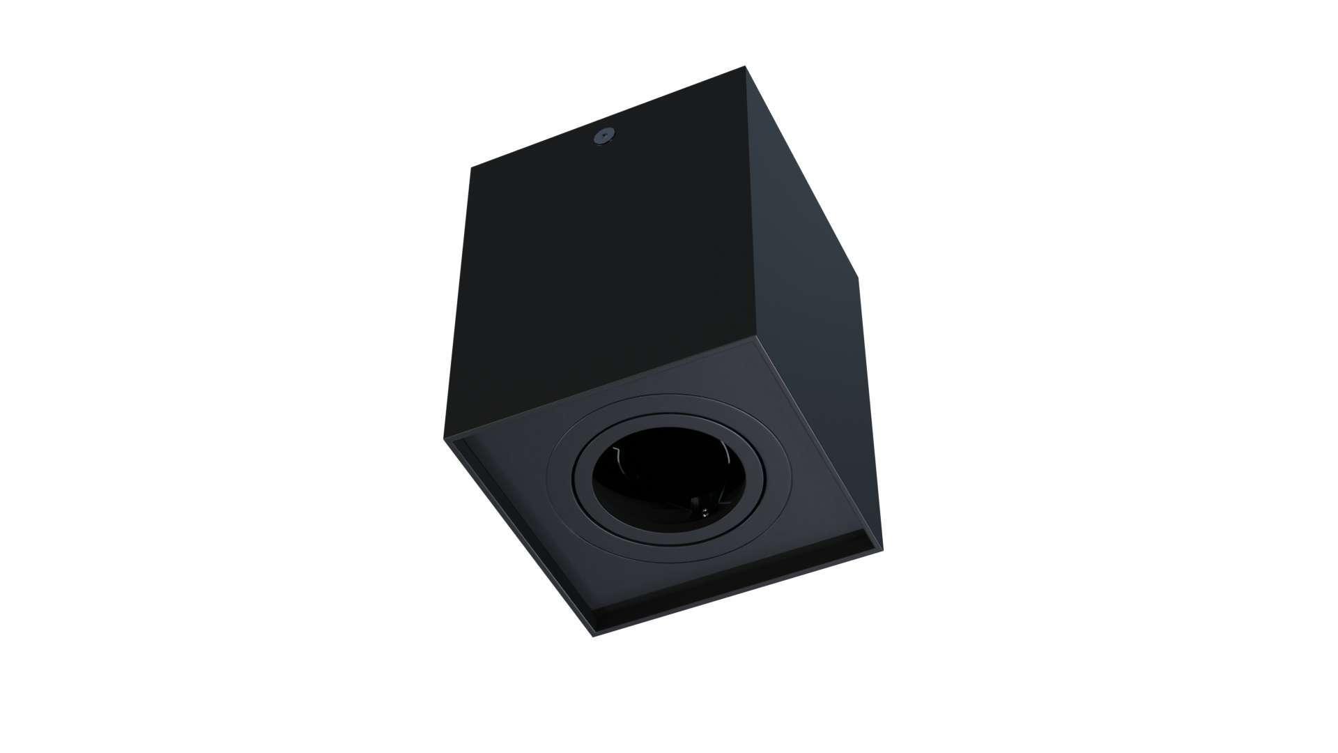 Oprawa natynkowa BERGEN kwadrat czarna
