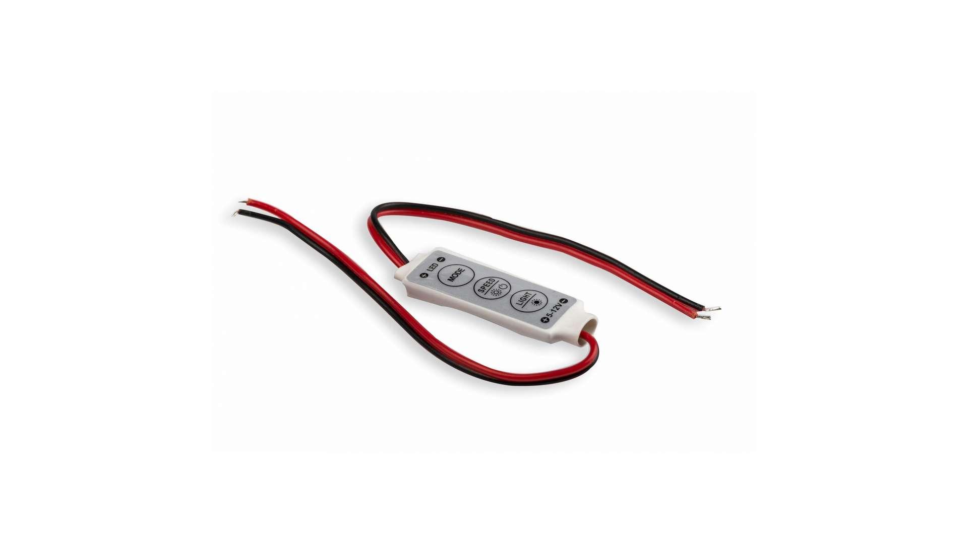 Ściemniacz LED 72W 6A 12V DC 3 przyciski manualny