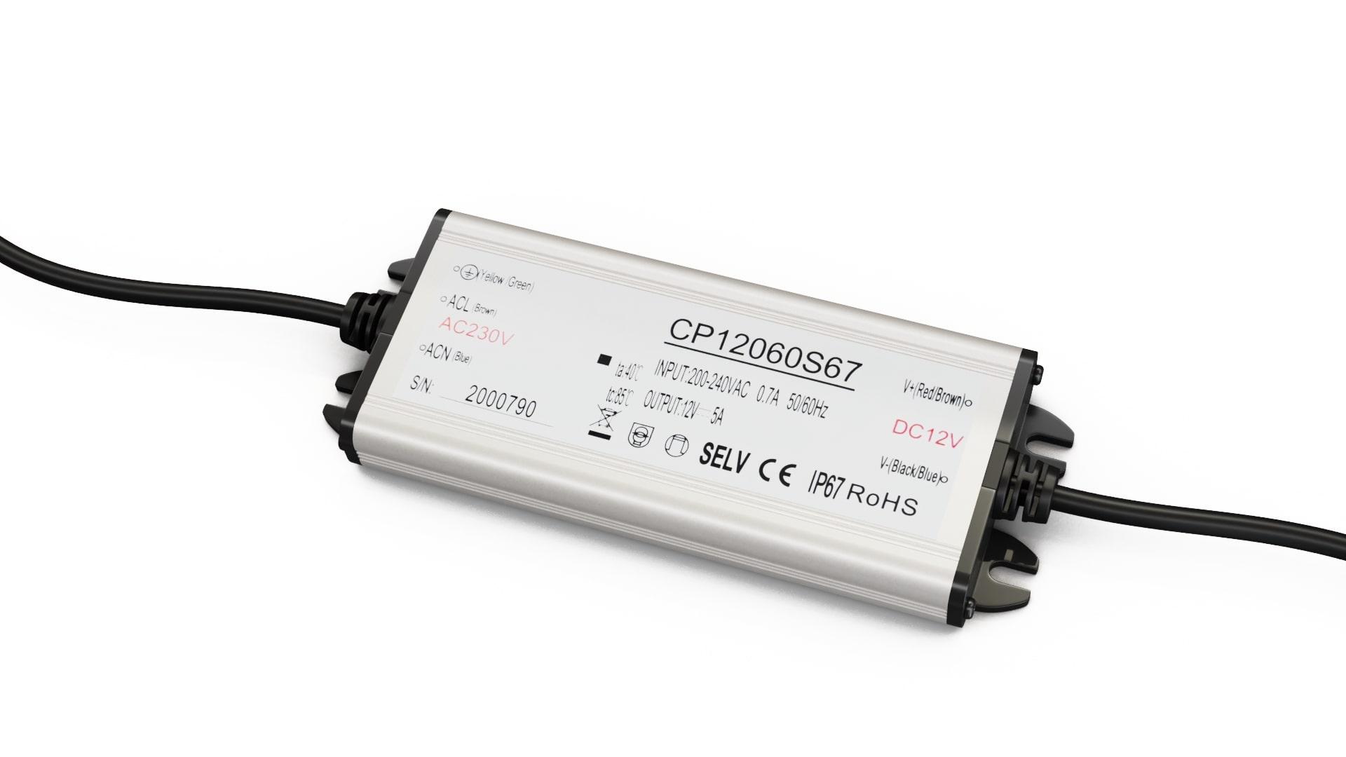 Moduł zasilacza metal case 12V 60W IP67