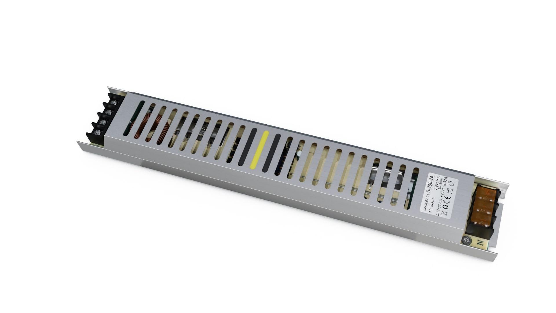 Moduł zasilacza montażowy 24V 200W IP20 slim