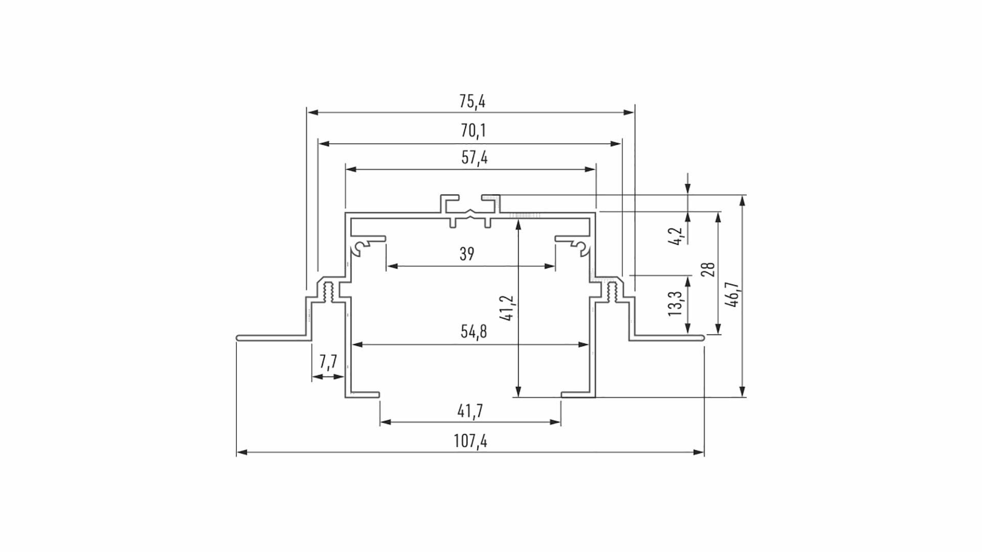 Profil LUMINES typ Talia M4 srebrny anod. 2,02 m