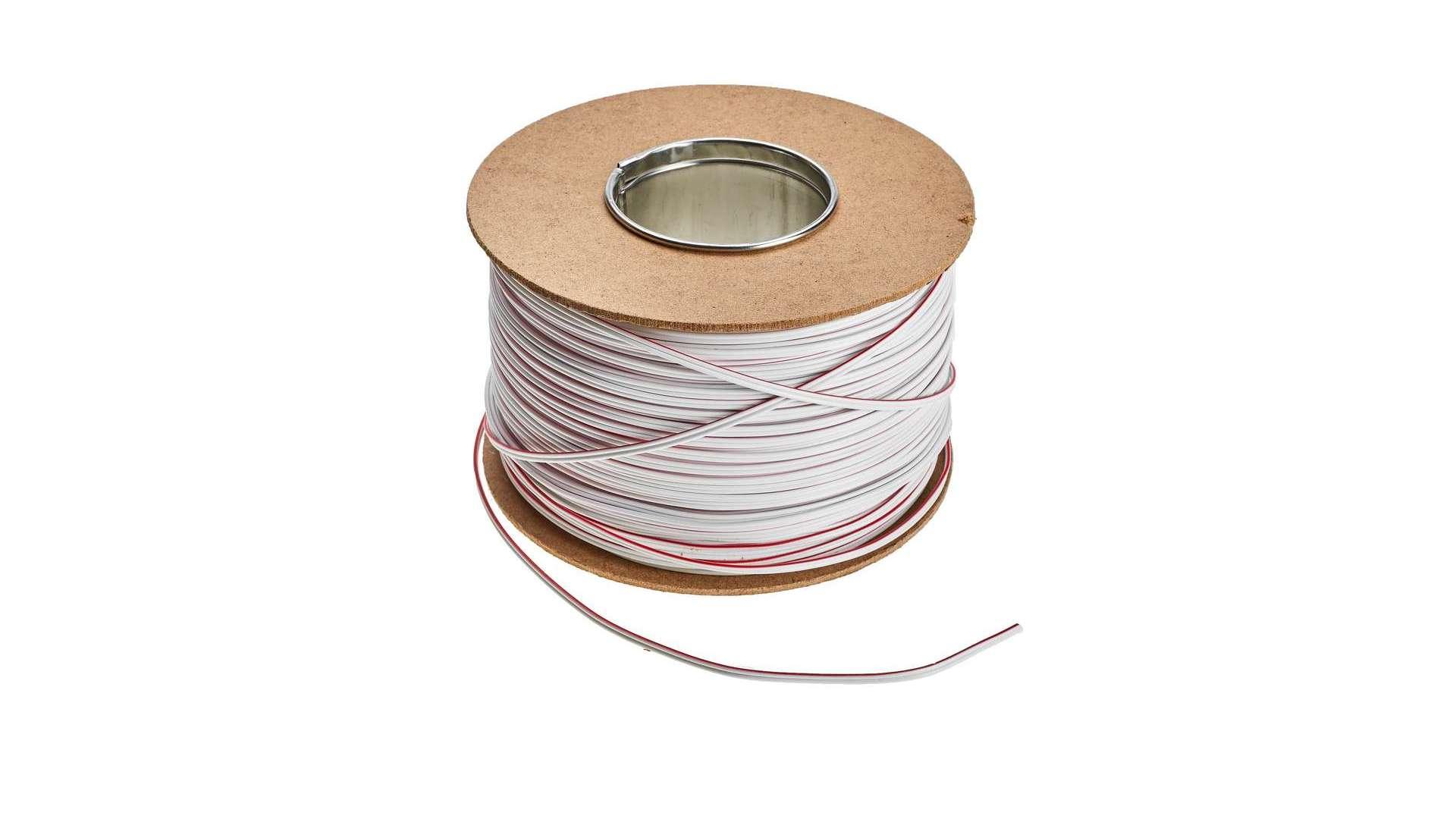 Przewód TLGYp 2x0,35 mm2 biały - 500m