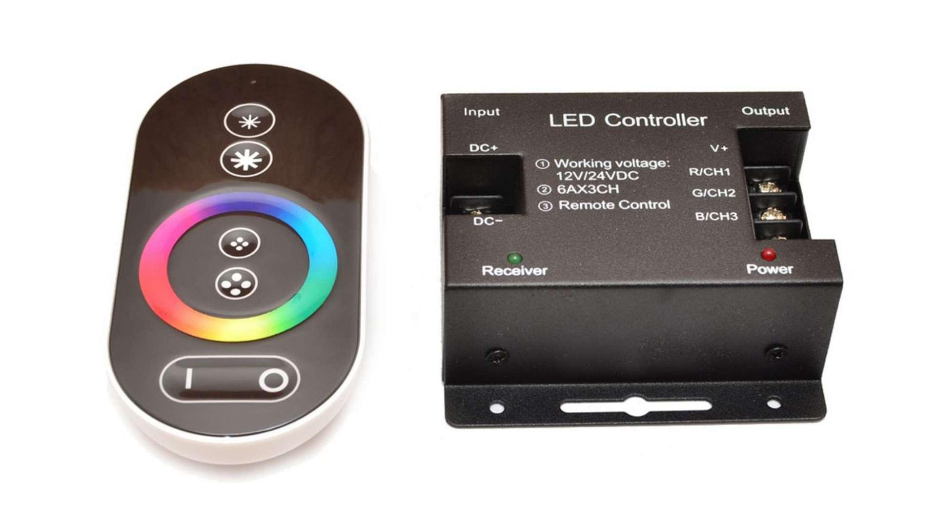 Sterownik RGB 12V 216W dotykowy (panel) RF