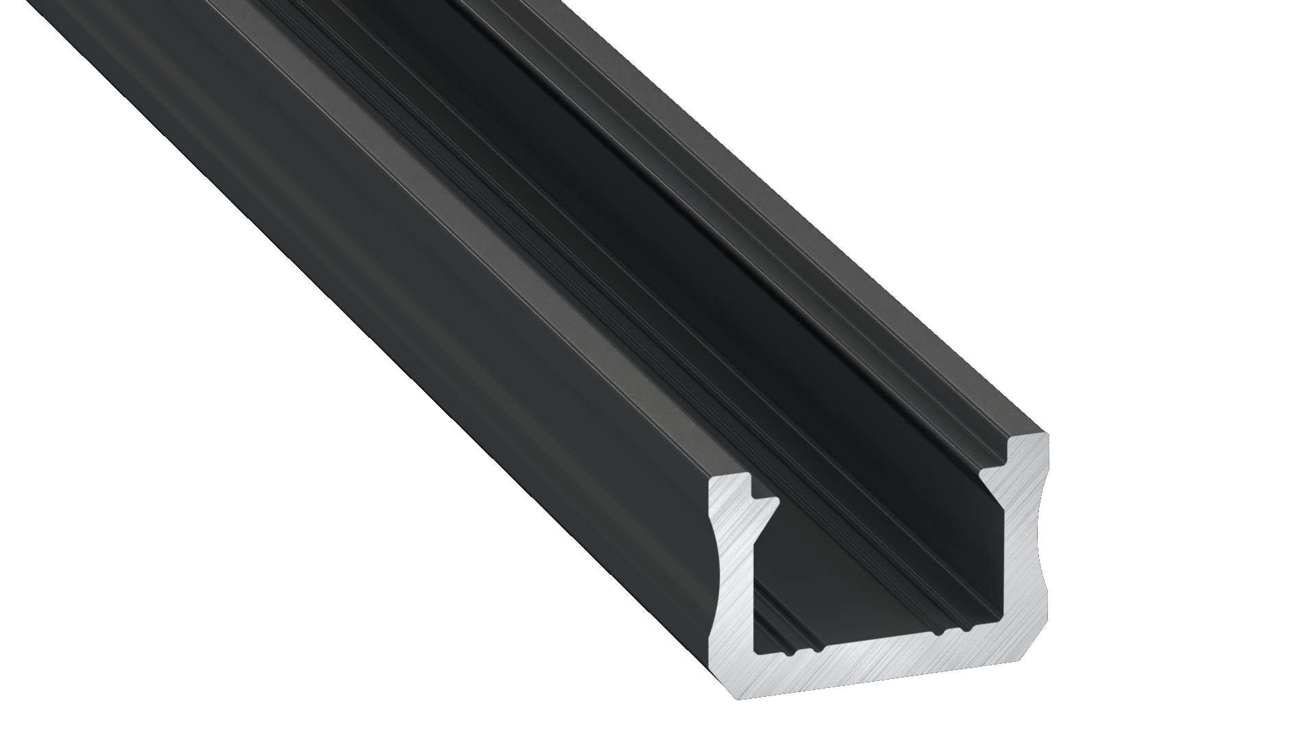Profil LUMINES typ X czarny anod. 2,02 m