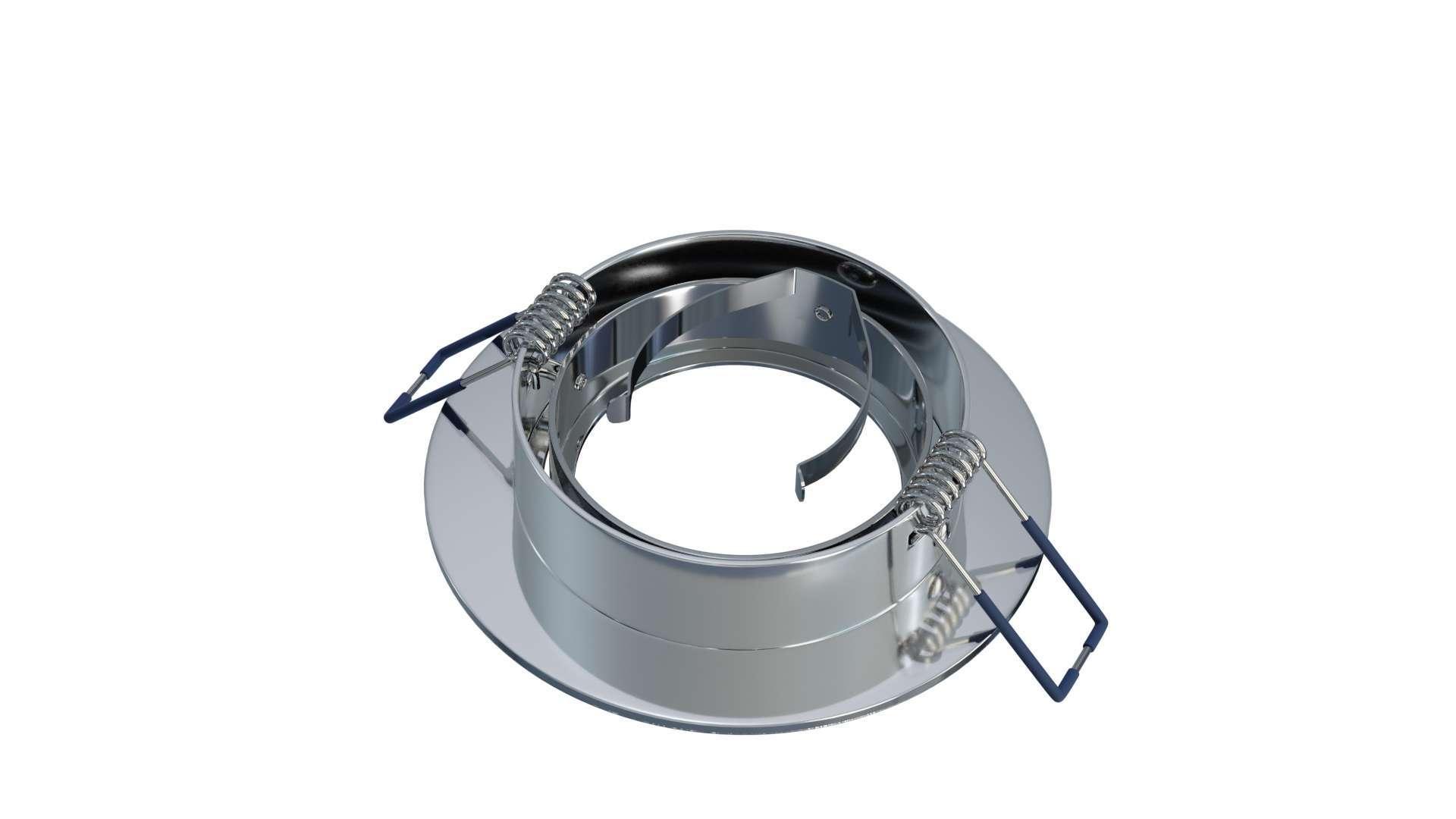 Oprawa MULO okrągła ruchoma srebrna szczot.