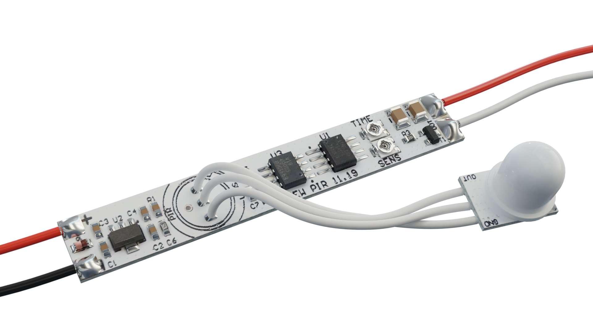 Włącznik bezdotykowy z czujką ruchu PIR 12V 30W