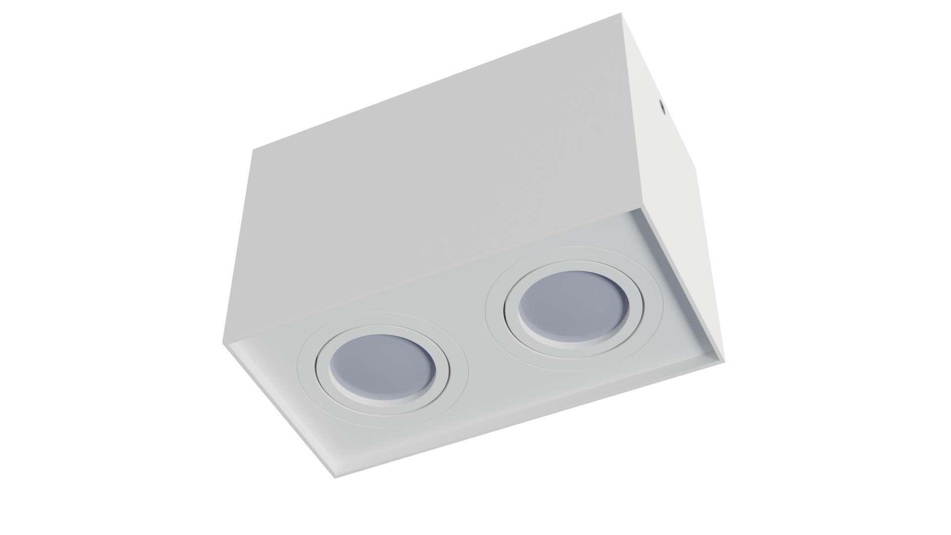 Oprawa natynkowa KALA 2x kwadrat biała