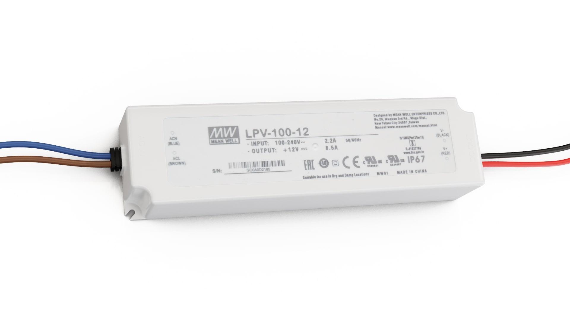 Zasilacz MEAN WELL LPV 12V 100W IP67