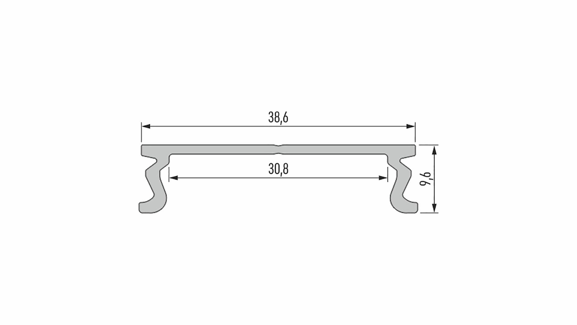 Profil LUMINES typ MODI srebrny anod. 1 m