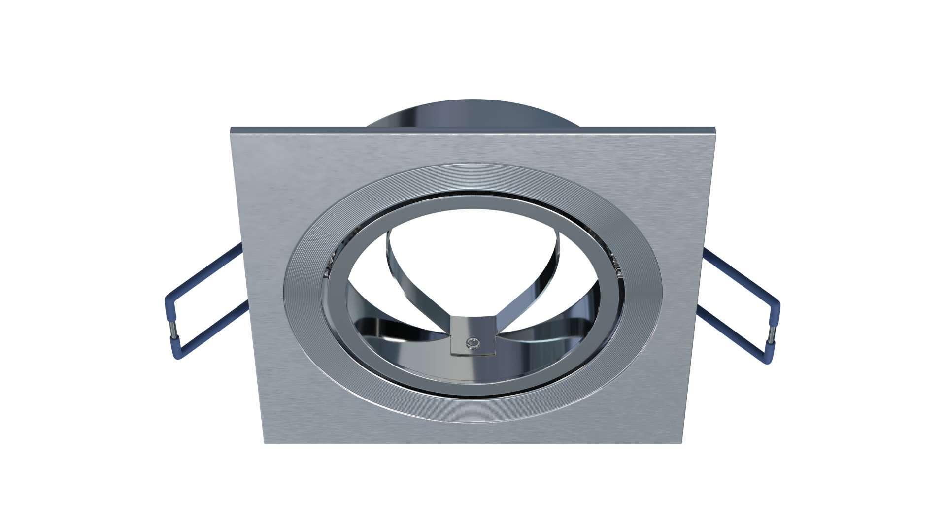 Oprawa GABI kwadrat ruchoma srebrna szczot.