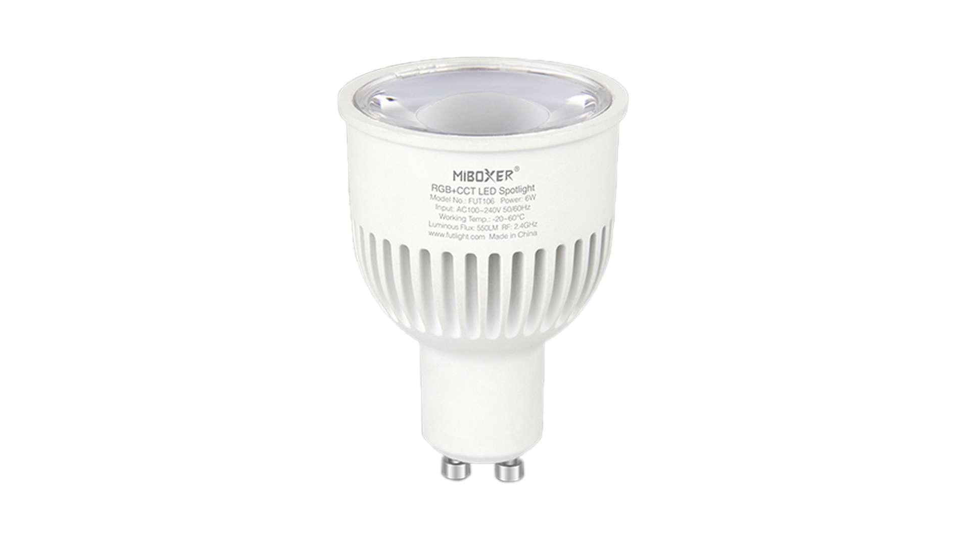 Źródło LED GU10 6W RGB+CCT MiBOXER