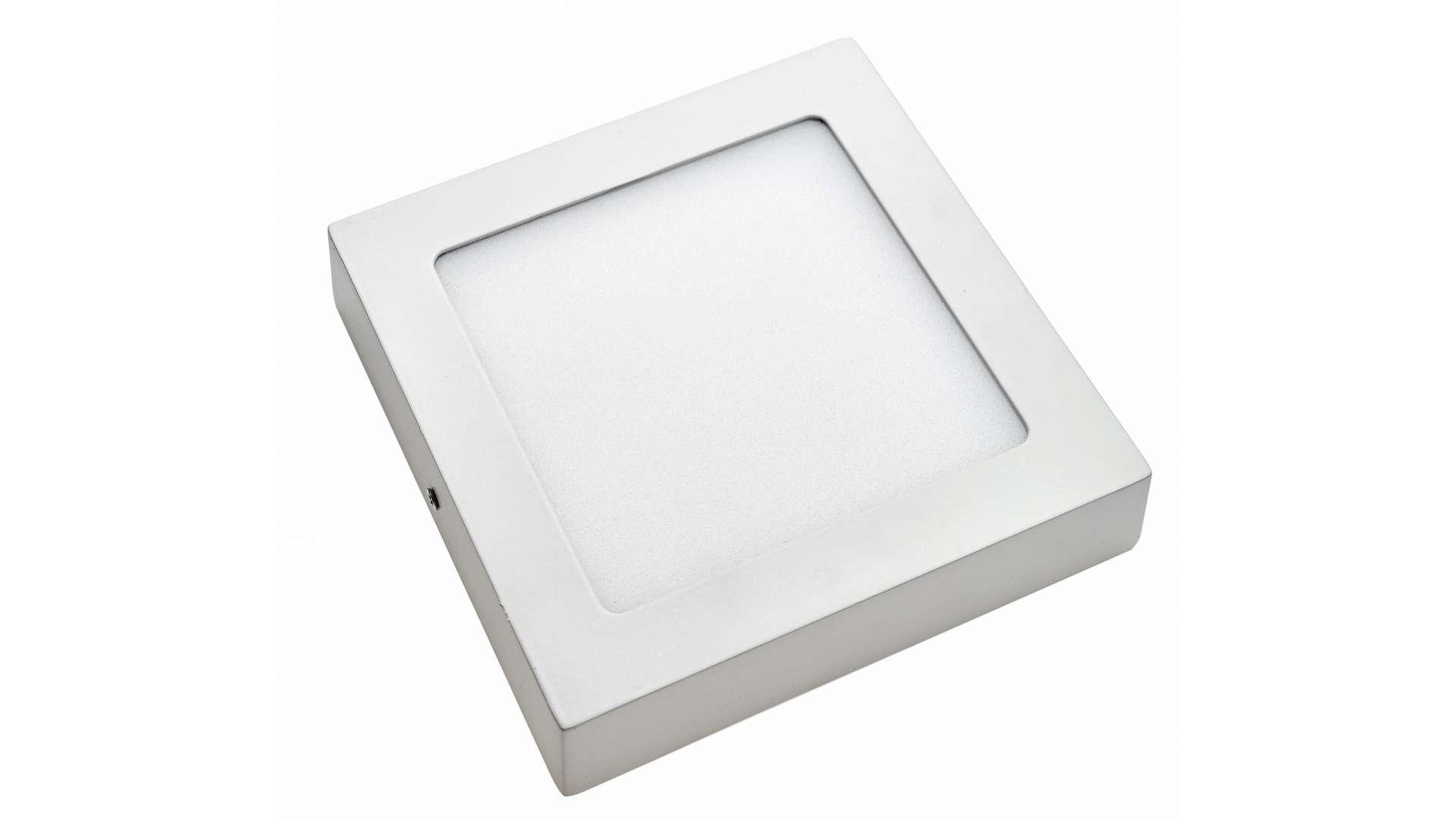 Panel LED 12W nawierzchniowy kwadrat Neutralny