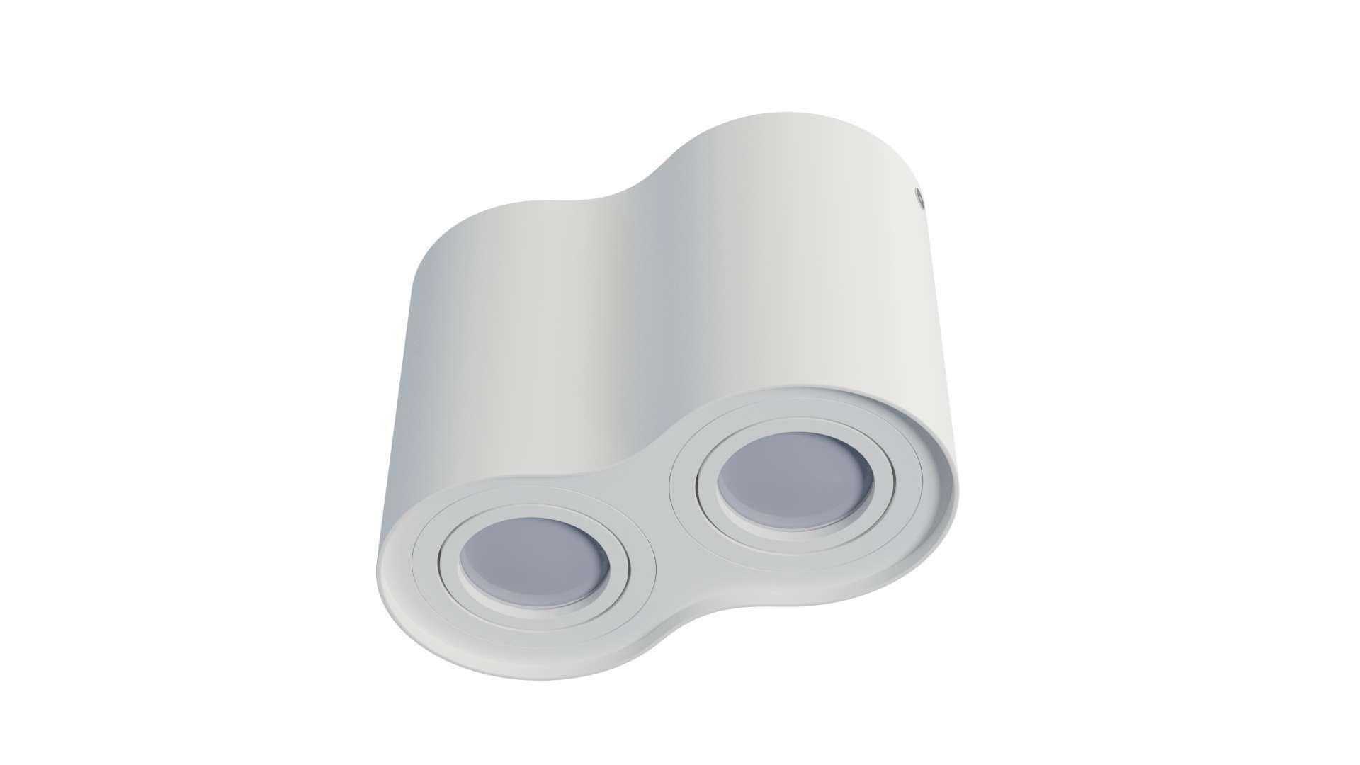 Oprawa natynkowa LENO 2x okrągła biała