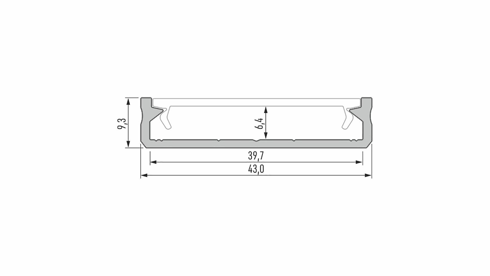 Profil LUMINES typ SOLIS inox anod. 1 m