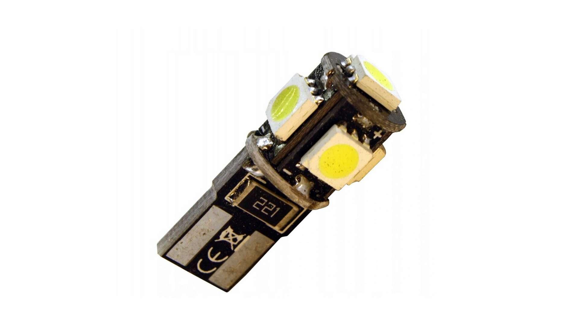 Dioda LED W5W 5x5050 SMD B.Zimna CANBUS