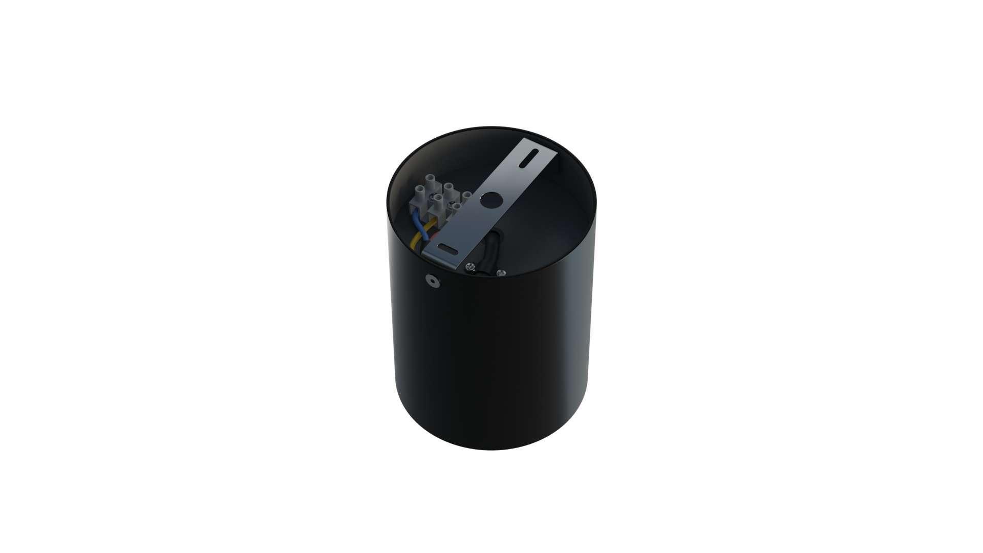 Oprawa natynkowa TUBE okrągła czarna
