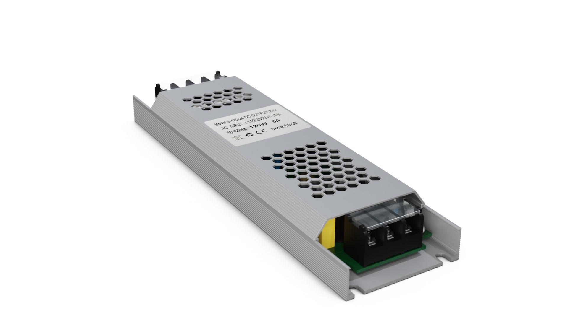 Moduł zasilacza montażowy 12V 120W IP20 SLIM