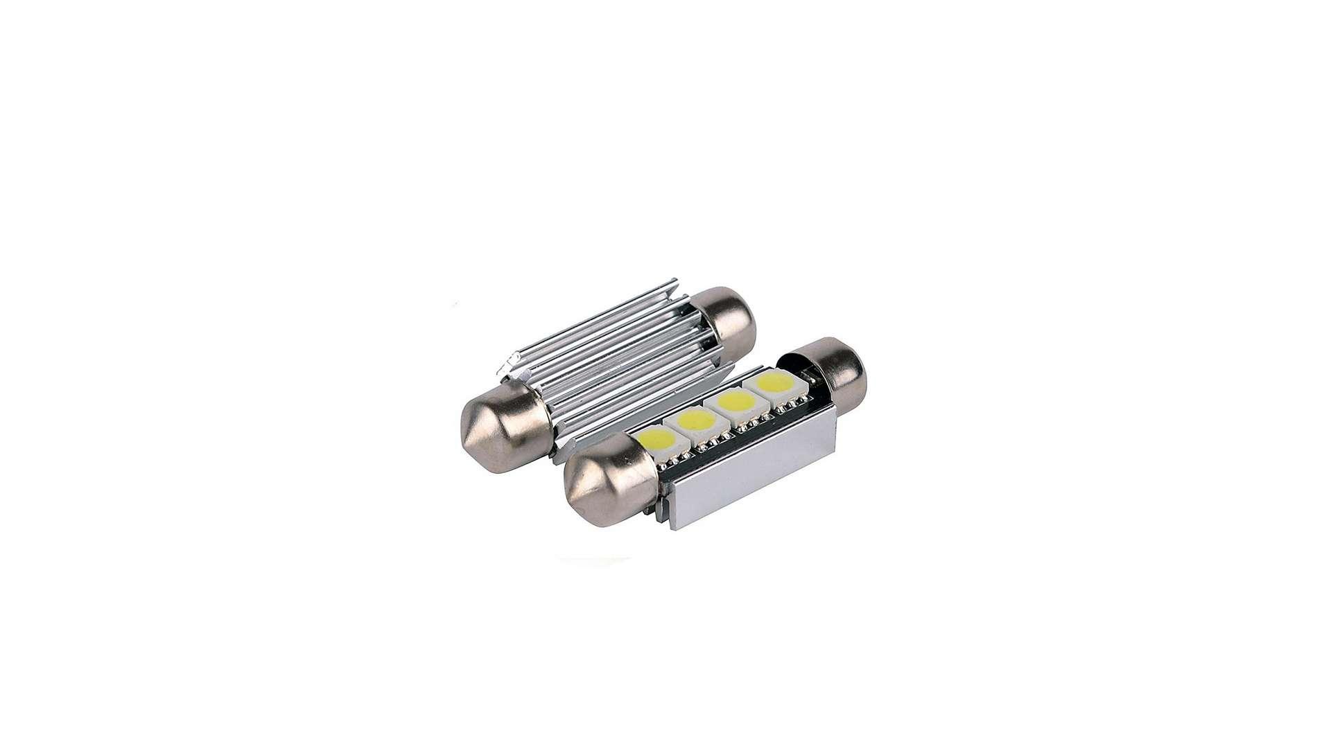 Dioda LED C5W 4x5050 SMD 41mm B. Zimna CANBUS