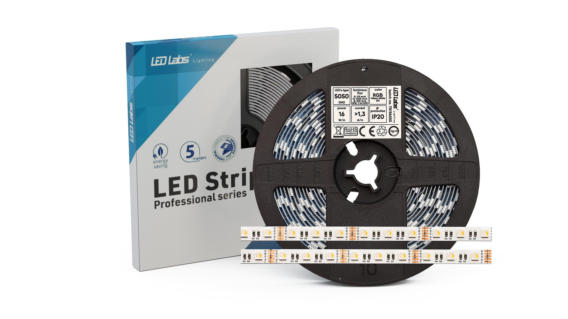 Taśma PRO 3Y 12V 300 LED 5050 SMD 16W RGBNW