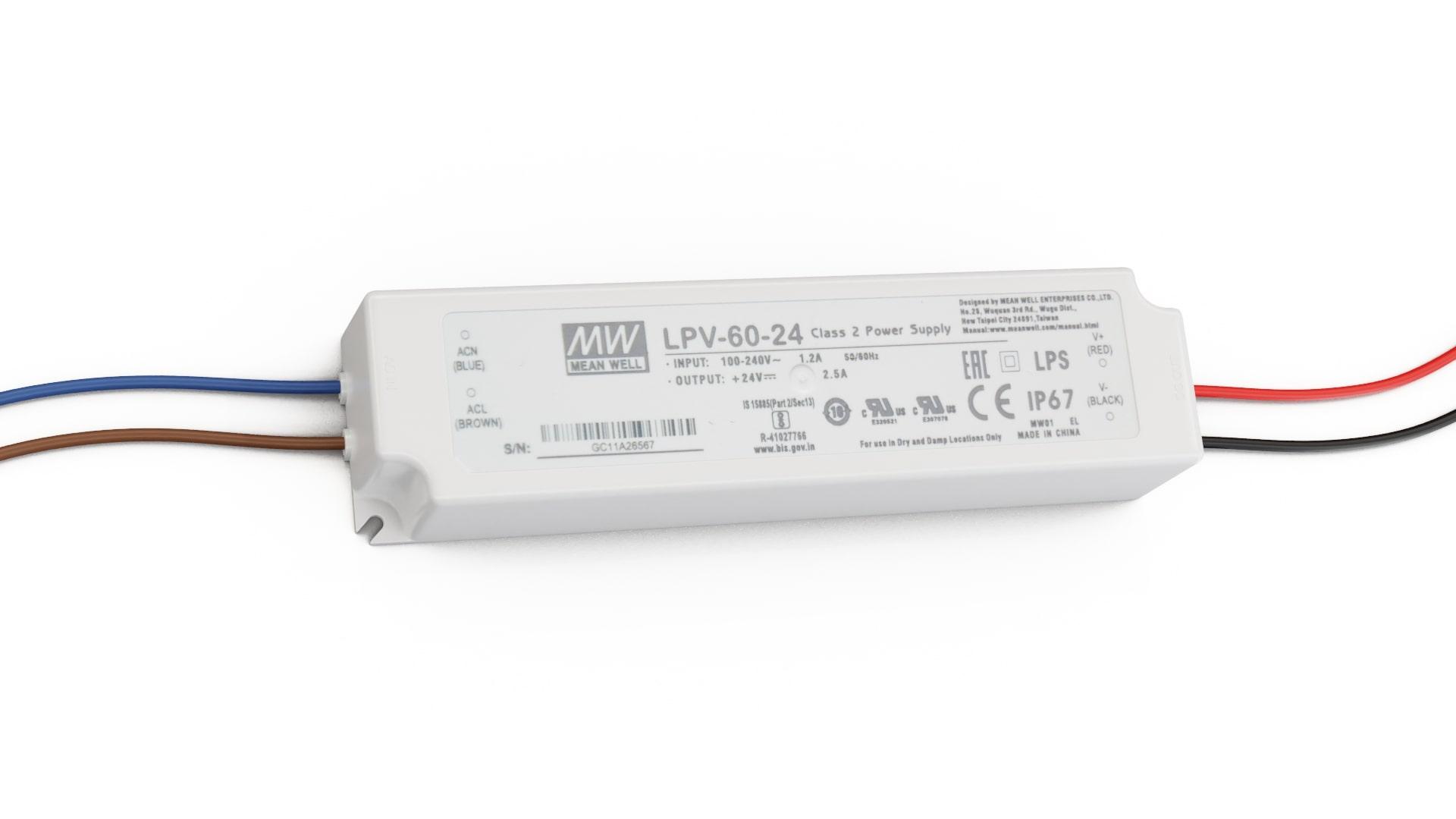 Zasilacz MEAN WELL LPV 24V 60W IP67