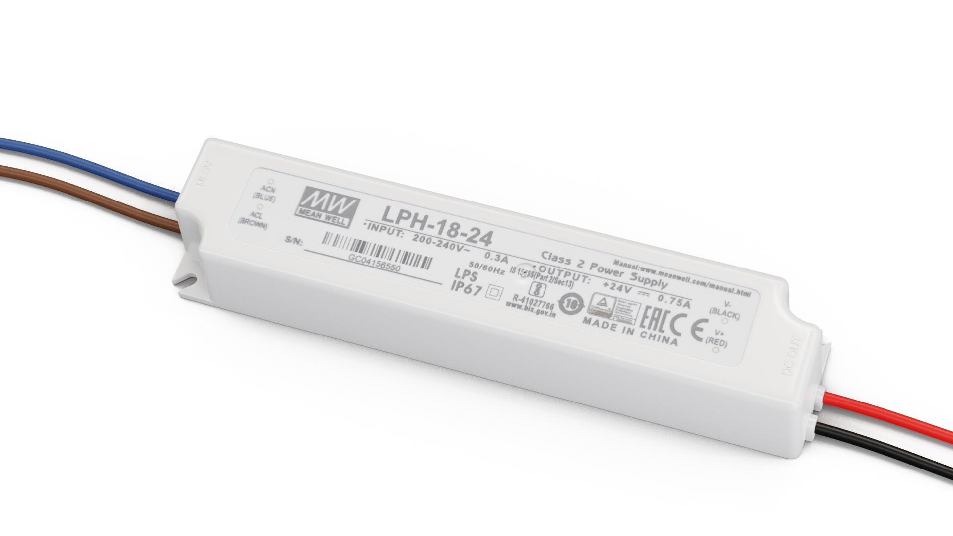 Zasilacz MEAN WELL LPH 24V 18W IP67