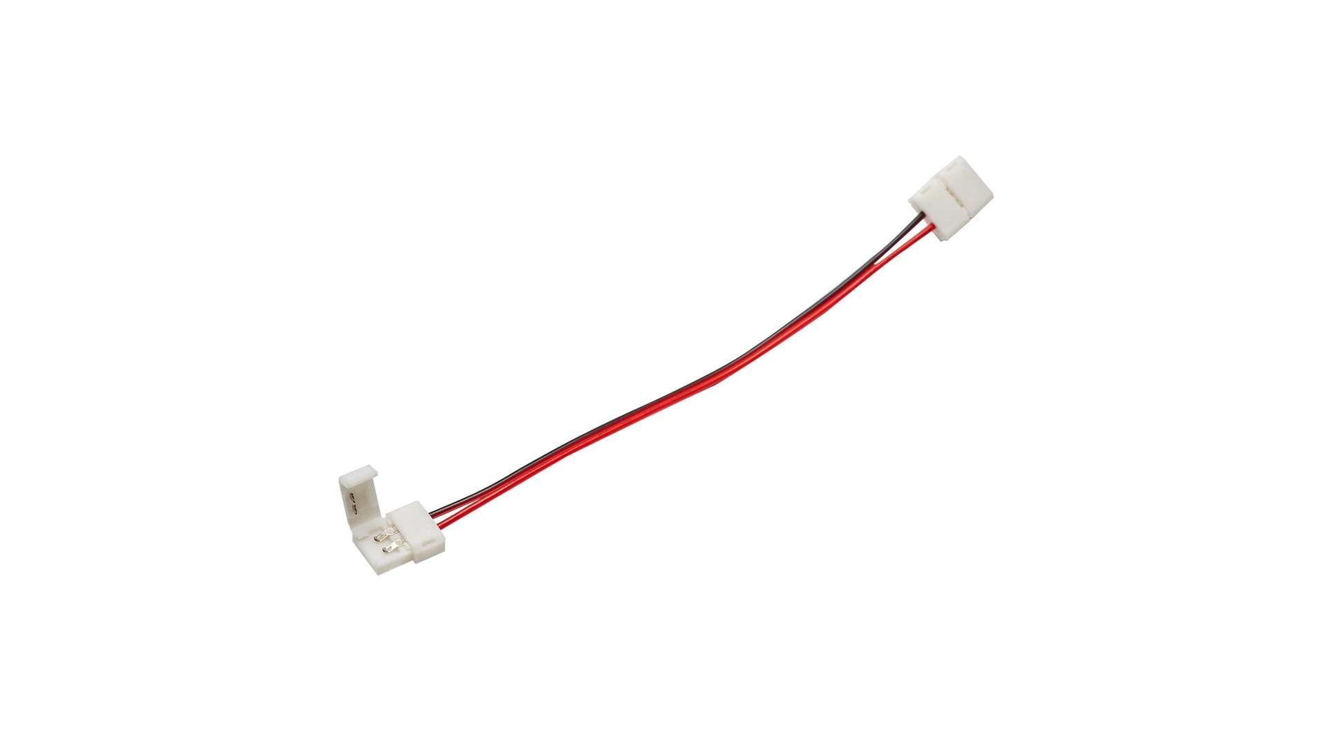 Złącze taśmy LED 10mm 2-stronne przewód z 2 zatrz.