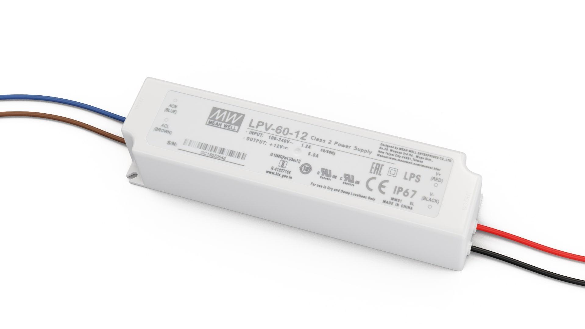 Zasilacz MEAN WELL LPV 12V 60W IP67