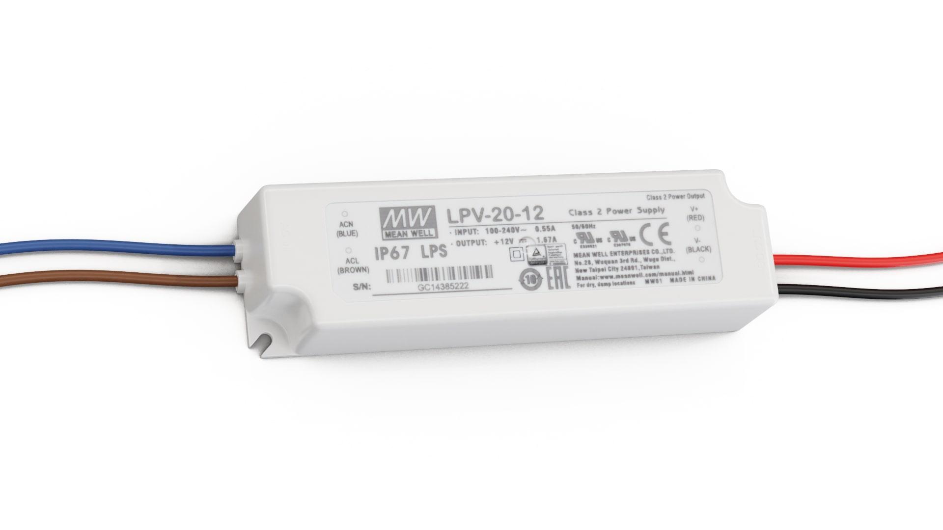 Zasilacz MEAN WELL LPV 12V 20W IP67