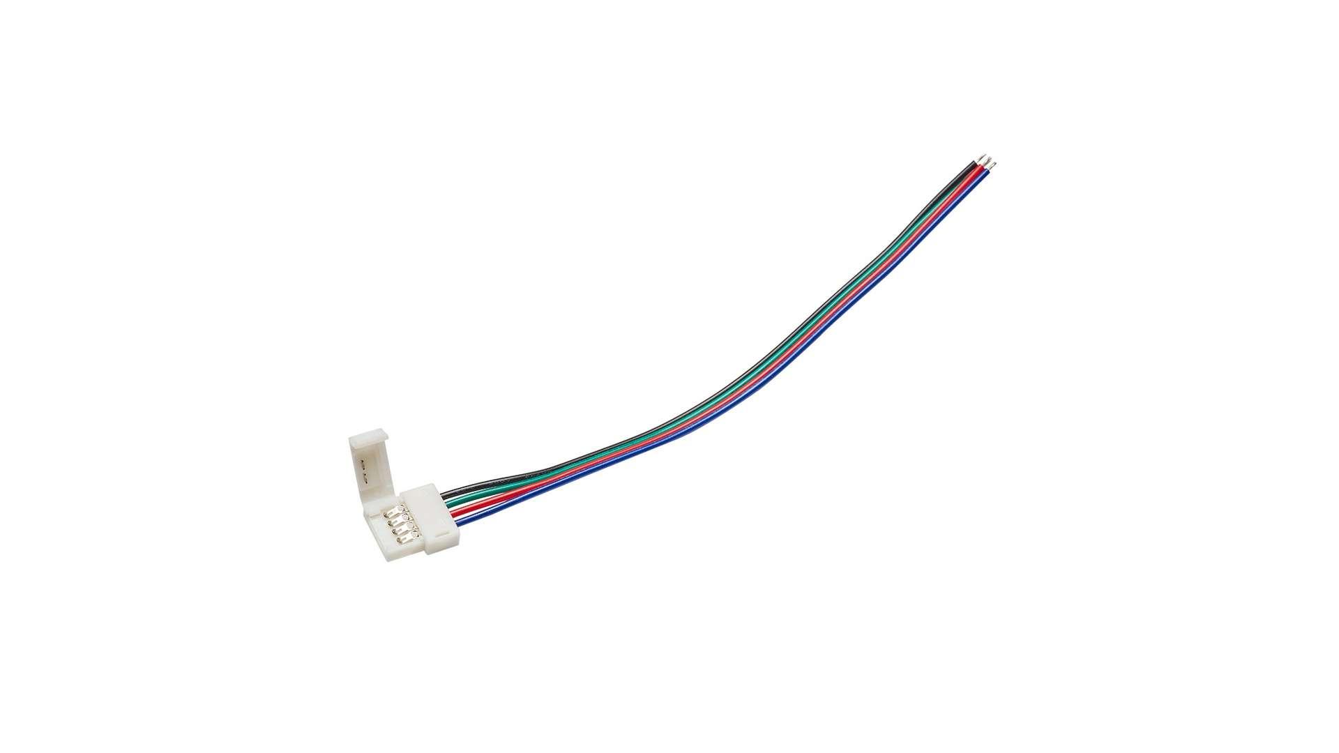 Złącze taśmy RGB 10mm 1-stronne zatrz. z przewodem