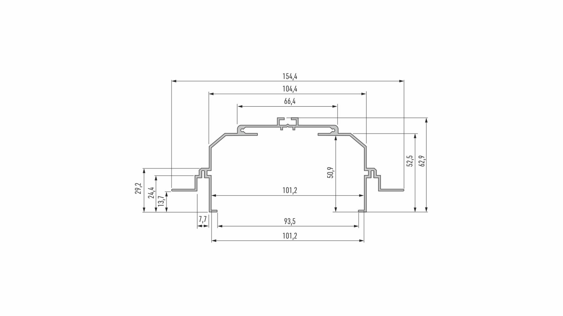 Profil LUMINES typ Largo M4 srebrny anod. 2,02 m