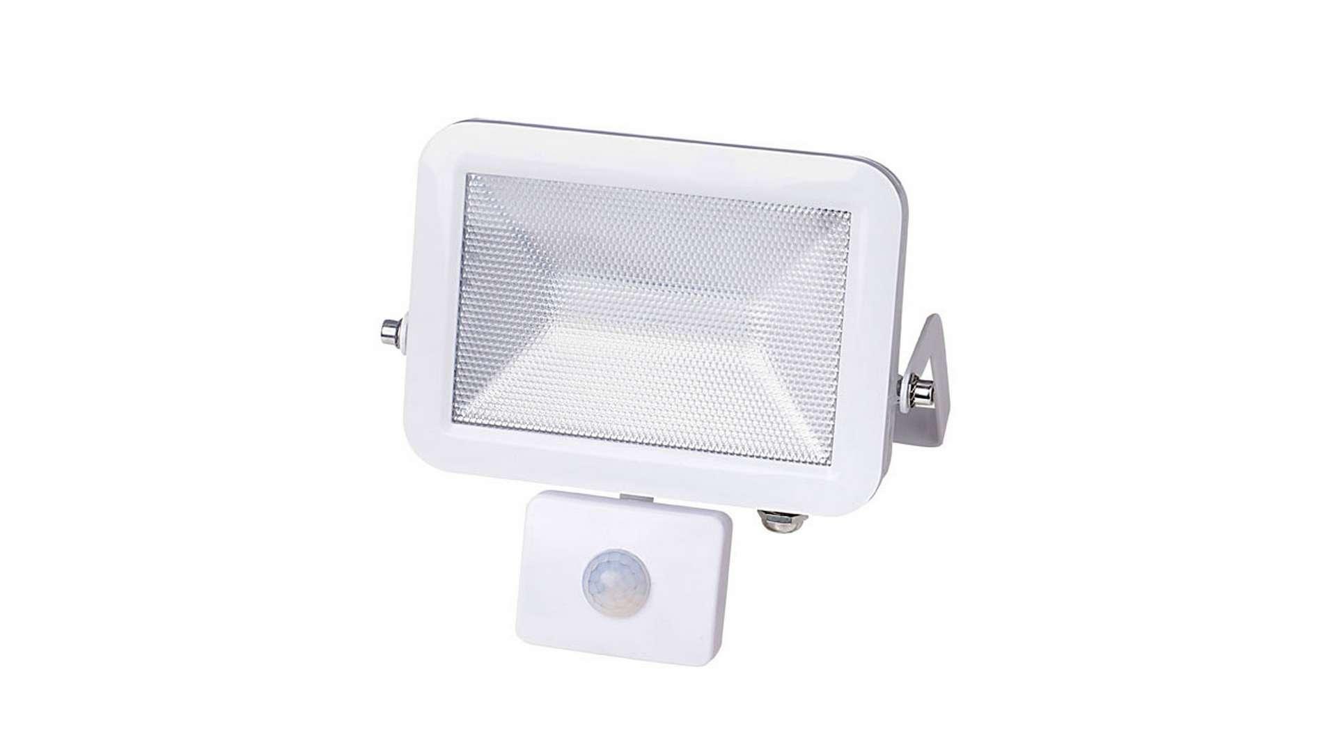 Naświetlacz 10W LED Neutral SLIM, biały PIR