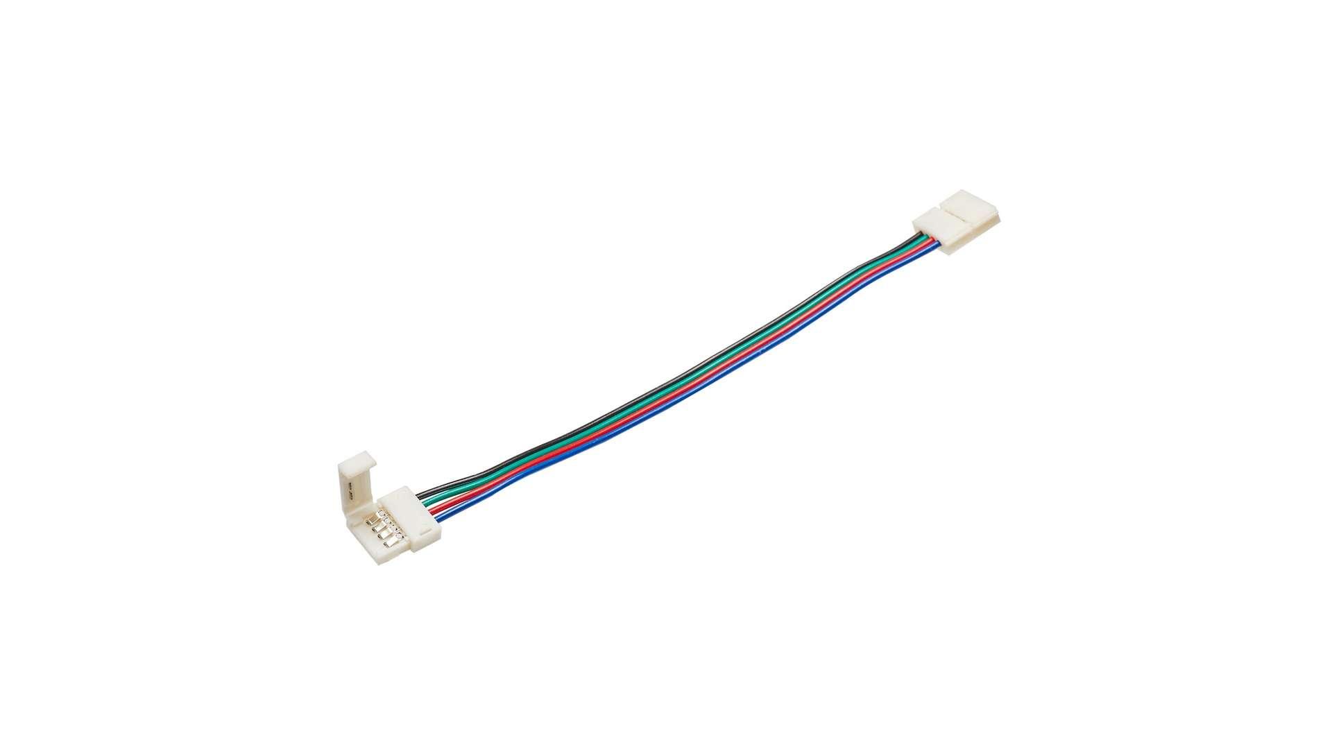 Złącze taśmy RGB 10mm 2-stronne przewód z zatrz.