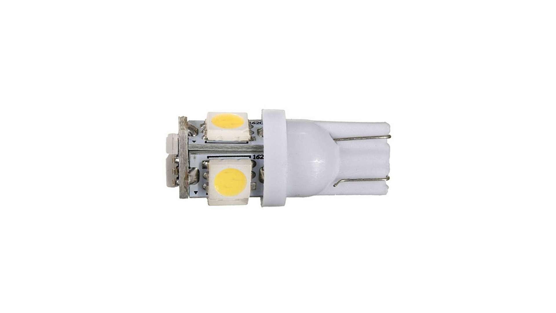 Dioda LED W5W 5x5050 SMD 12V DC B. Zimna