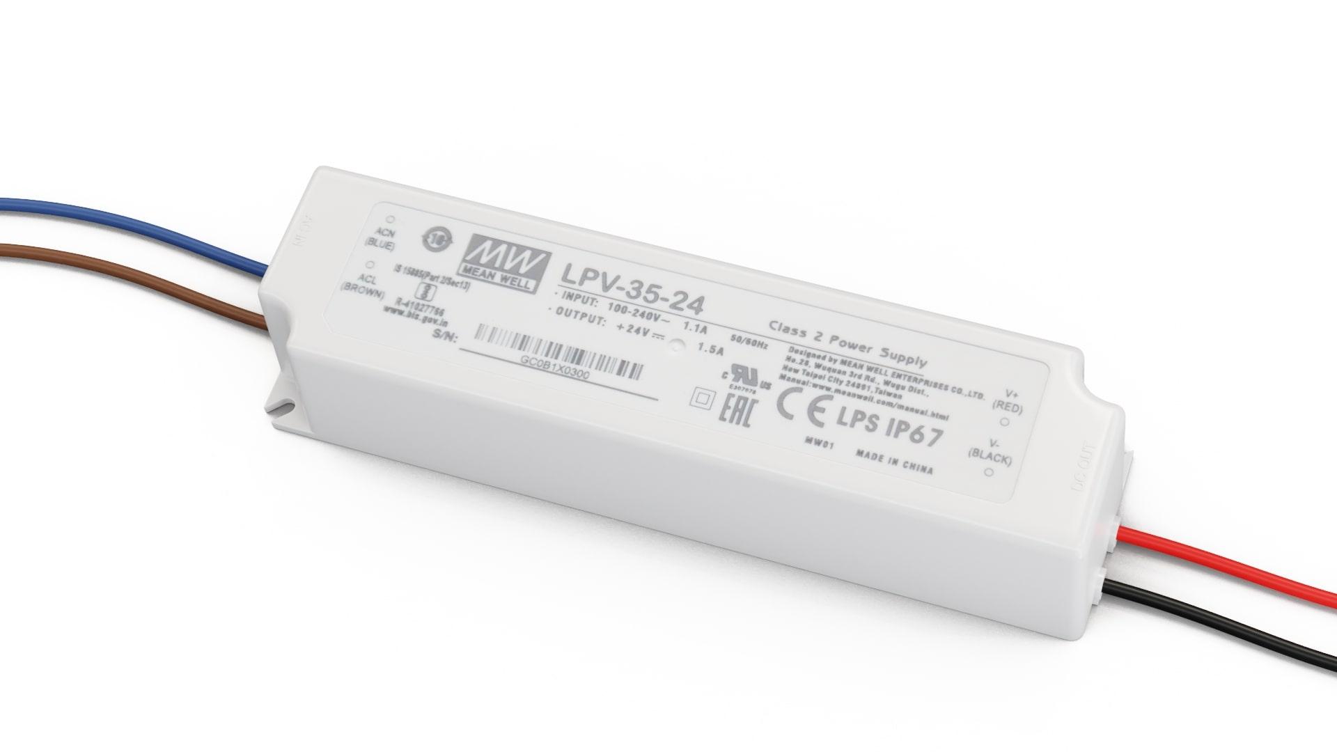 Zasilacz MEAN WELL LPV 24V 35W IP67