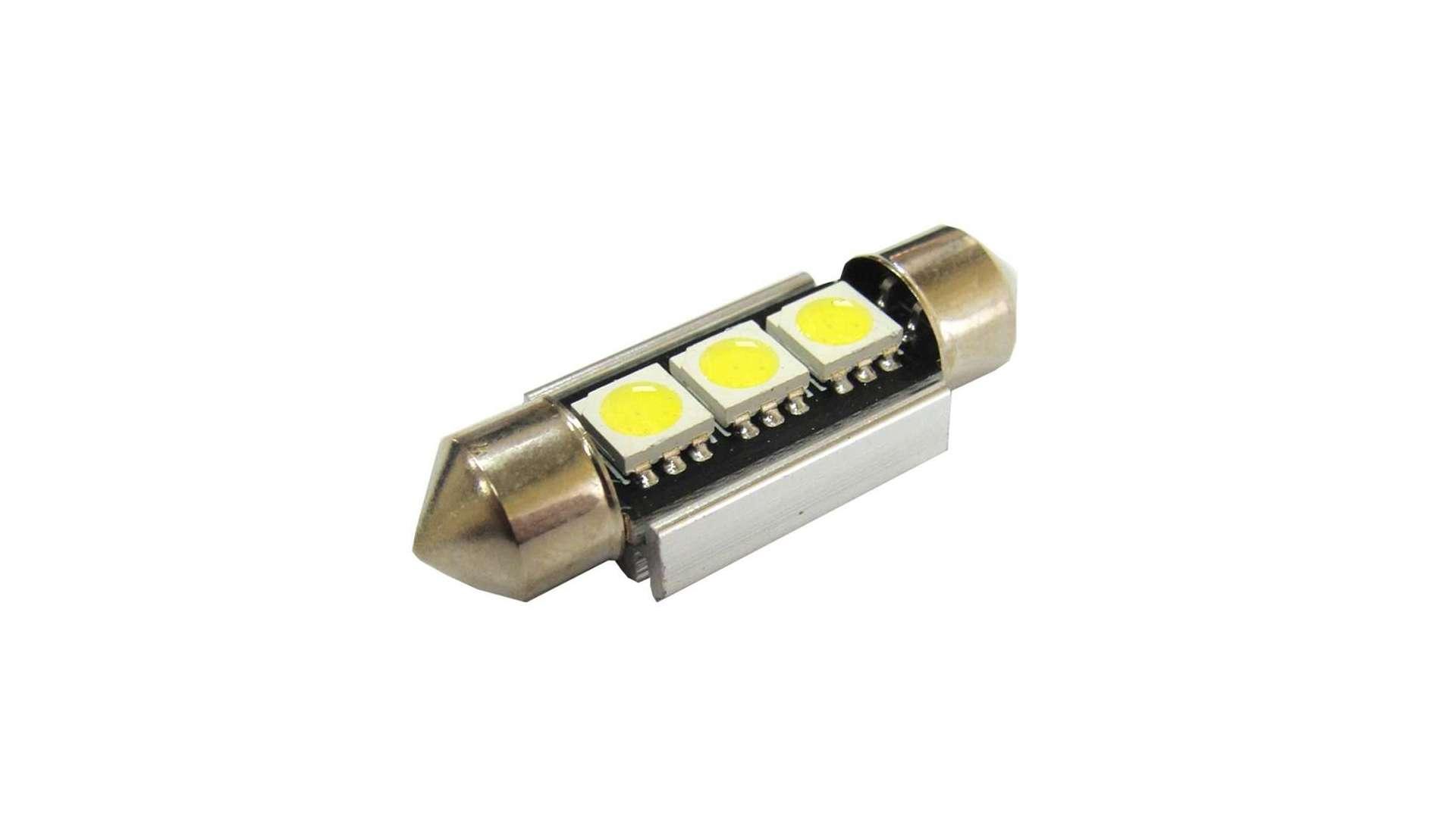 Dioda LED C5W 3x5050 SMD 39mm B. Zimna CANBUS