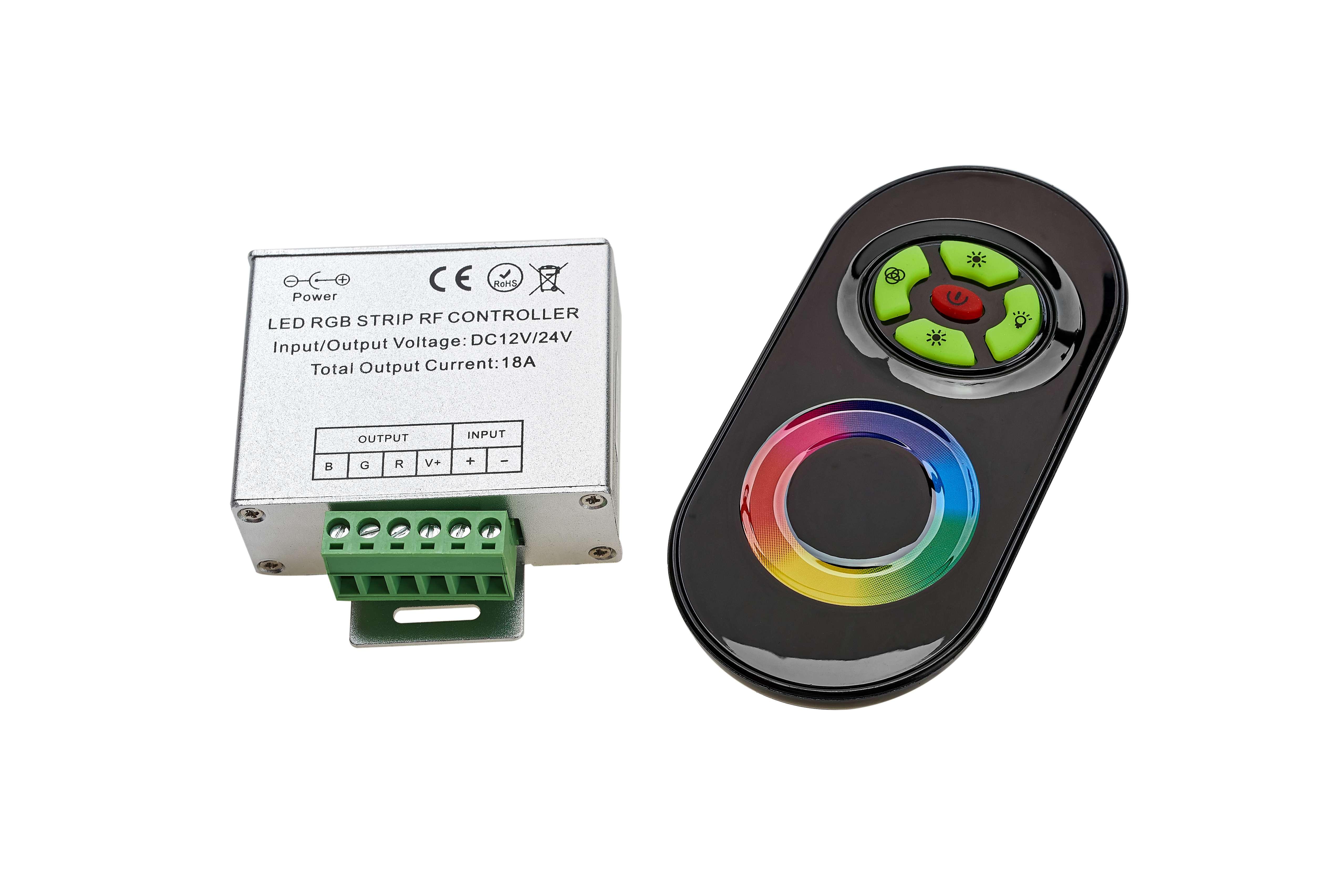Sterownik RGB 12V 216W dotykowy (5p.+ panel) RF