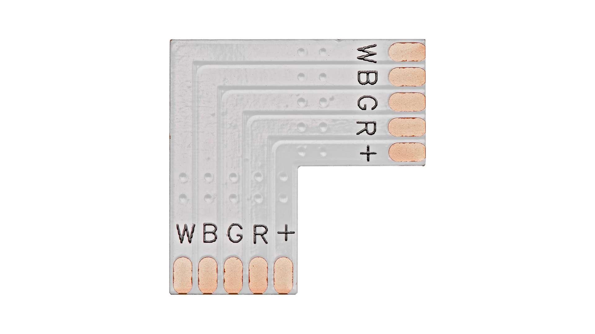 """Złącze taśmy LED typu """"L"""" RGBW"""