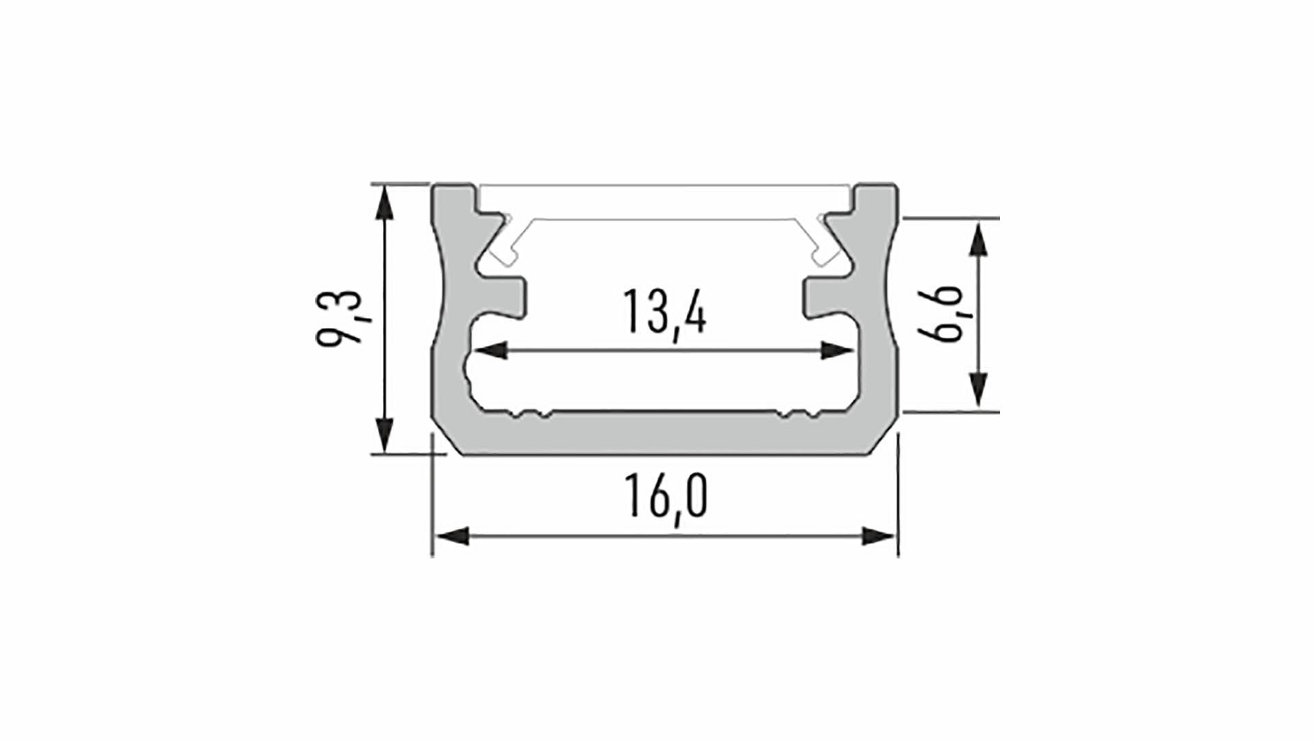 Profil LUMINES typ A srebrny anod. 2,02 m