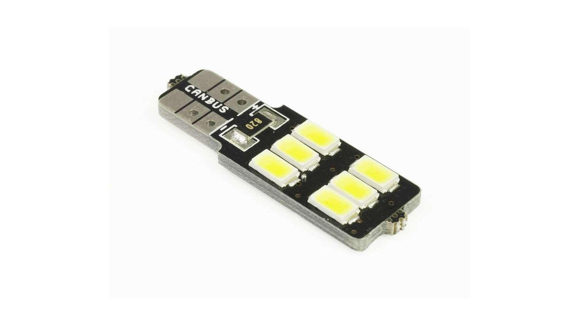 Dioda LED T10 W5W 6 SMD 5630 Boczna