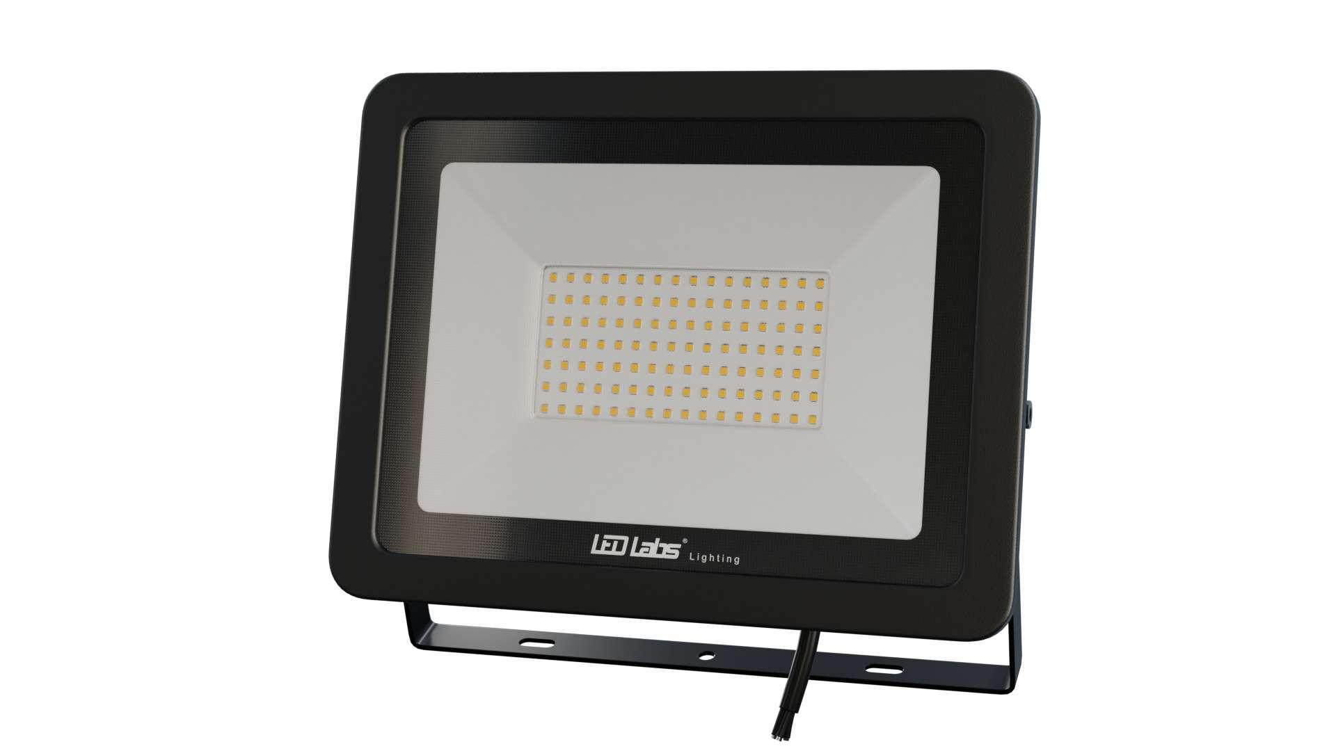 Naświetlacz LED 3Y 100W NW SMD IP65 SLIM, czarny