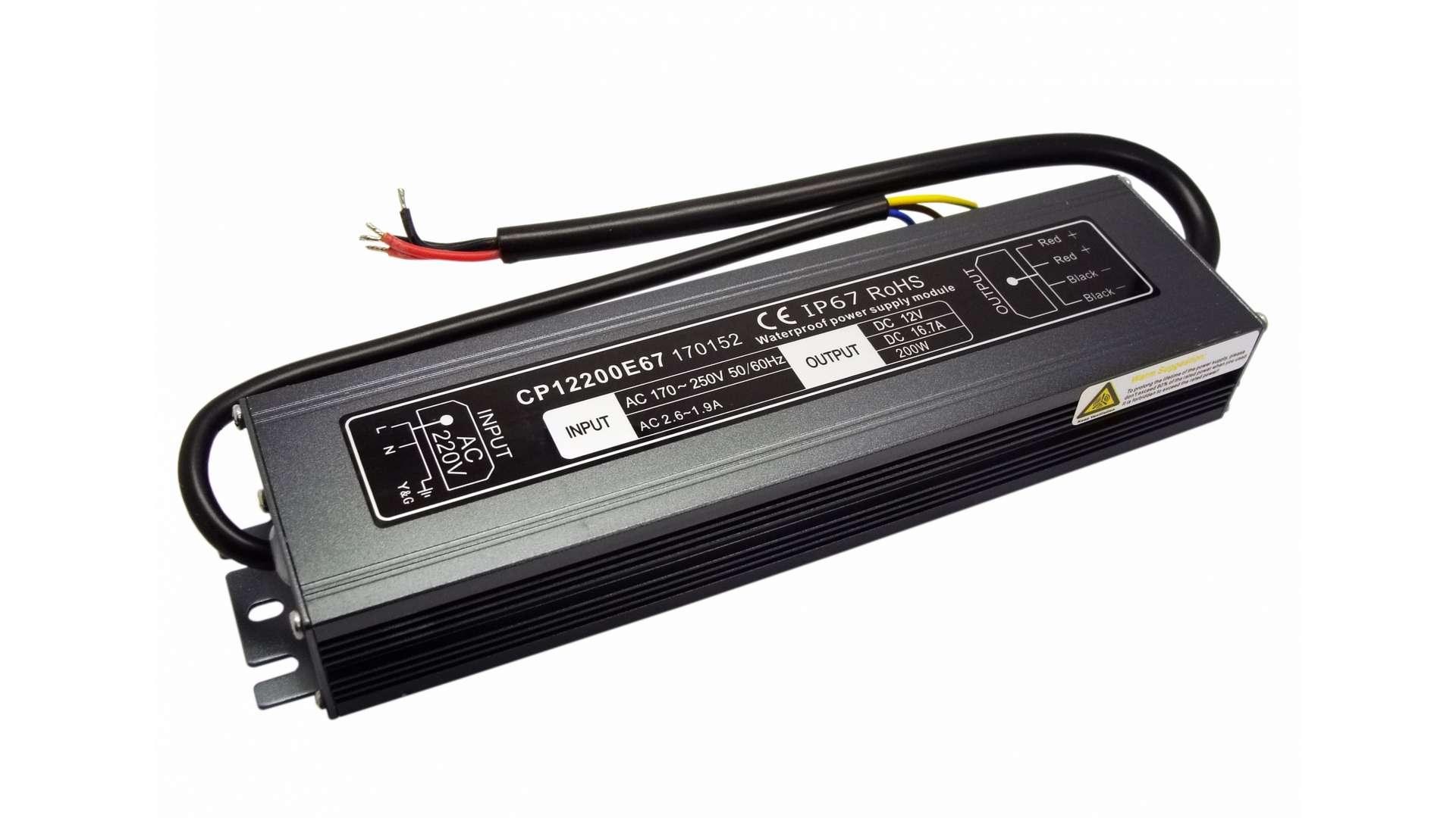 Moduł zasilacza metal case 12V 200W IP67