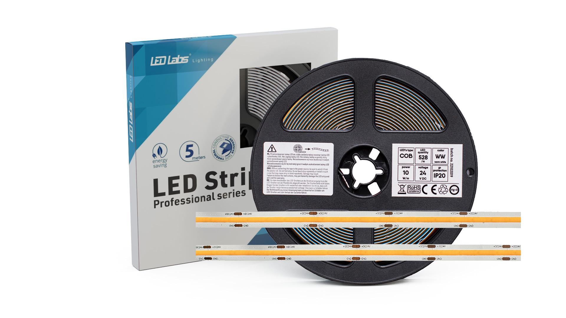Taśma PRO 3Y 24V 2640 LED COB 10W NW