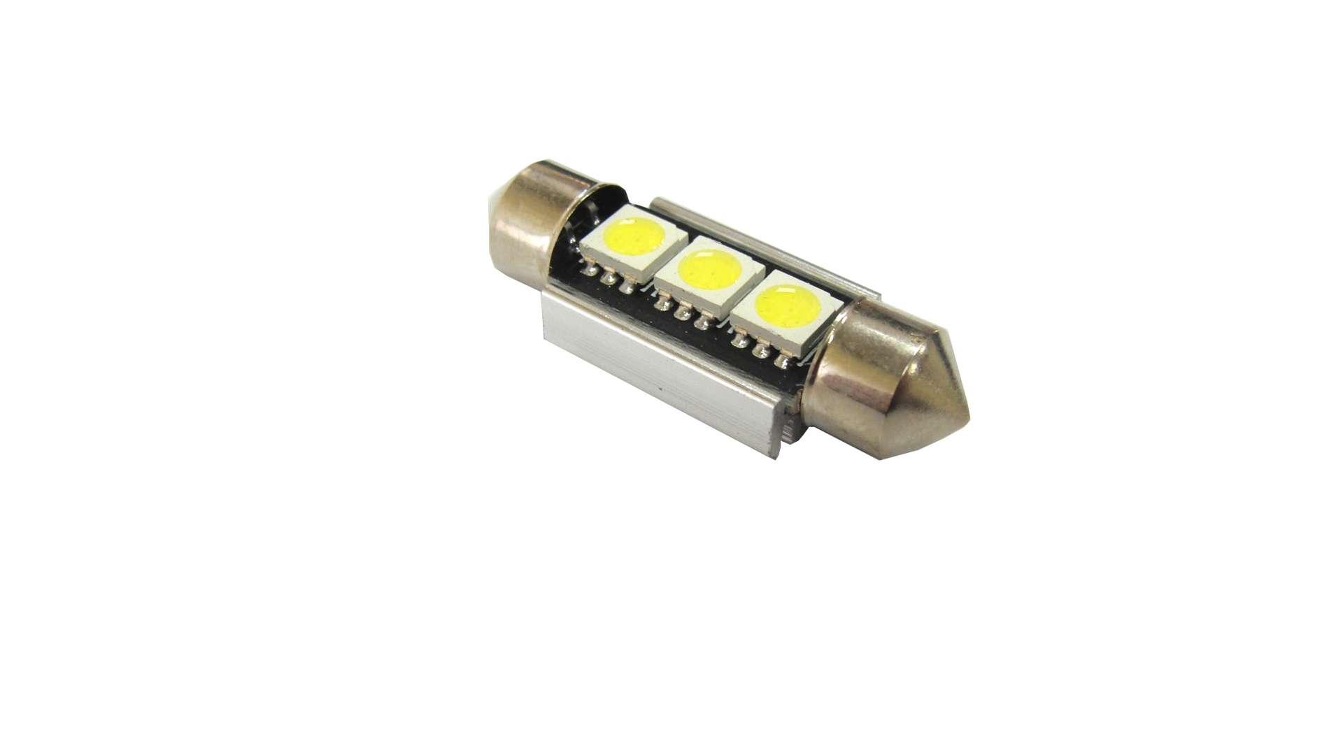 Dioda LED C5W 3x5050 SMD 36mm B. Zimna CANBUS