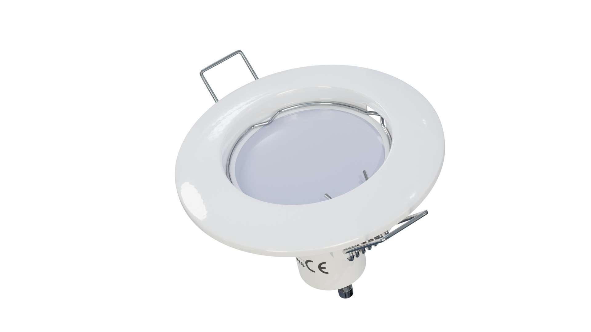 Oprawa ROKA odlew okrągła stała biała