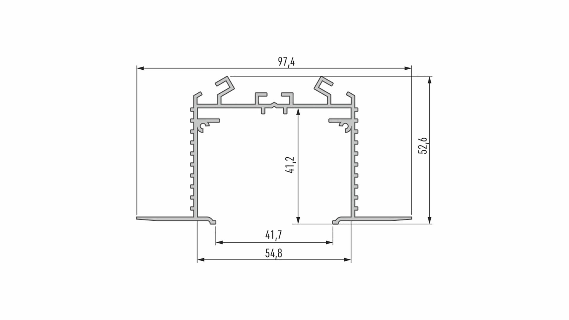 Profil LUMINES typ Talia M3 srebrny anod. 2,02 m